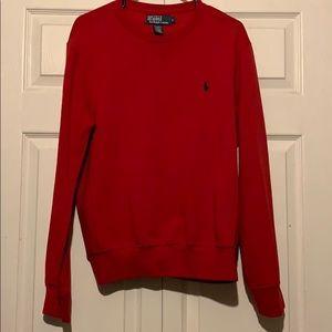 Polo crew neck sweater.